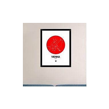 Naxart 'Vienna Red Subway Map' Framed Graphic Art Print; 30'' H x 24'' W x 1.5'' D