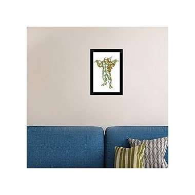Naxart 'Turtle Michelangelo' Framed Graphic Art Print on Canvas; 20'' H x 14'' W x 1.5'' D