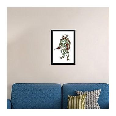 Naxart 'Turtle Raphael' Framed Graphic Art Print on Canvas; 26'' H x 18'' W x 1.5'' D