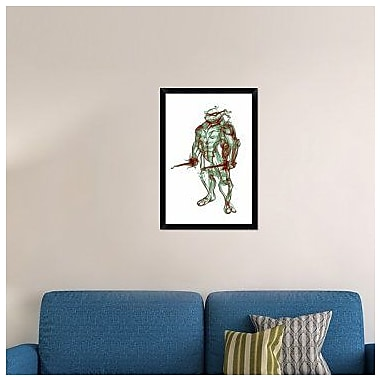 Naxart 'Turtle Raphael' Framed Graphic Art Print on Canvas; 32'' H x 22'' W x 1.5'' D