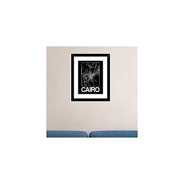 Naxart 'Black Map of Cairo' Framed Graphic Art Print; 30'' H x 24'' W x 1.5'' D