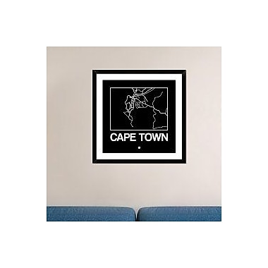 Naxart 'Black Map of Cape Town' Framed Graphic Art Print; 30'' H x 30'' W x 1.5'' D