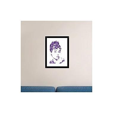 Naxart 'Audrey Hepburn' Framed Graphic Art Print; 24'' H x 18'' W x 1.5'' D