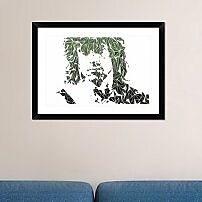 Naxart 'Rambo' Framed Graphic Art Print; 22'' H x 30'' W x 1.5'' D