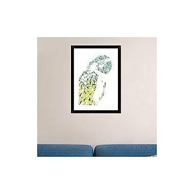 Naxart 'Ara Parrot' Framed Graphic Art Print; 30'' H x 22'' W x 1.5'' D