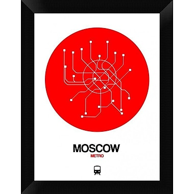 Naxart 'Moscow Red Subway Map' Framed Graphic Art Print on Canvas; 18'' H x 14'' W x 1.5'' D