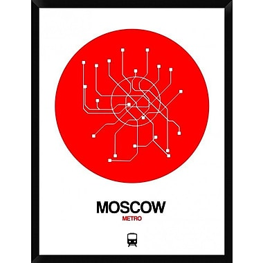 Naxart 'Moscow Red Subway Map' Framed Graphic Art Print on Canvas; 42'' H x 32'' W x 1.5'' D