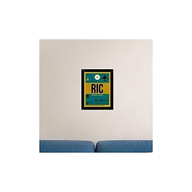 Naxart 'RIC Richmond Luggage Tag I' Framed Graphic Art Print on Canvas; 18'' H x 14'' W x 1.5'' D