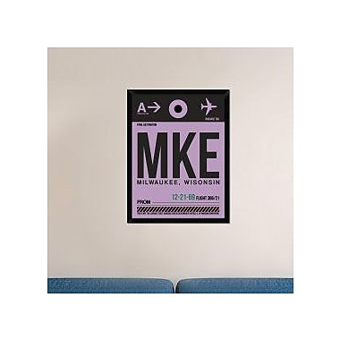 Naxart 'MKE Milwaukee Luggage Tag I' Framed Graphic Art Print on Canvas; 34'' H x 26'' W x 1.5'' D