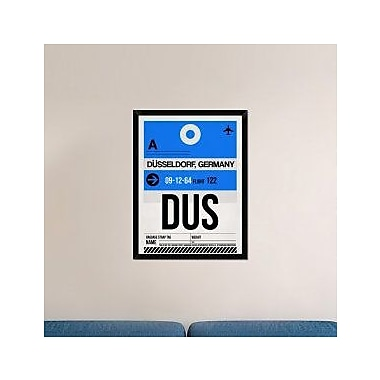 Naxart 'DUS Dusseldorf Luggage Tag I' Framed Graphic Art Print on Canvas; 34'' H x 26'' W x 1.5'' D