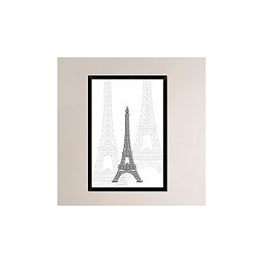 Naxart 'Eiffel Tower' Framed Graphic Art Print on Canvas; 38'' H x 26'' W x 1.5'' D