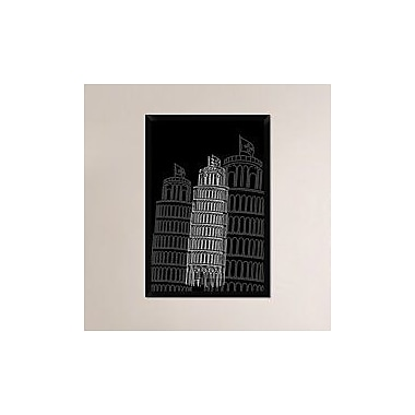 Naxart 'Tower of Pisa Night' Framed Graphic Art Print on Canvas; 38'' H x 26'' W x 1.5'' D