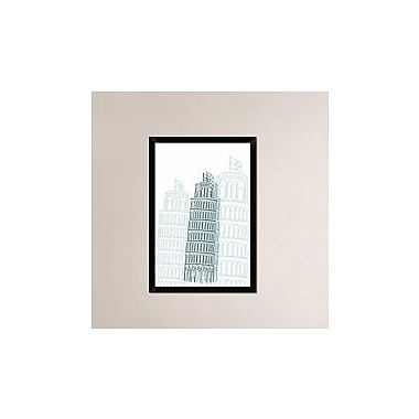 Naxart 'Tower of Pisa' Framed Graphic Art Print on Canvas; 32'' H x 22'' W x 1.5'' D