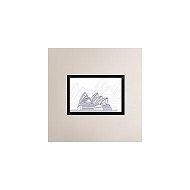 Naxart 'Sydney' Framed Graphic Art Print on Canvas; 18'' H x 26'' W x 1.5'' D