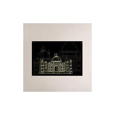 Naxart 'Taj Mahal Night' Framed Graphic Art Print on Canvas; 26'' H x 38'' W x 1.5'' D