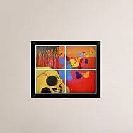 Naxart 'New Day' Framed Graphic Art Print on Canvas; 18'' H x 22'' W x 1.5'' D