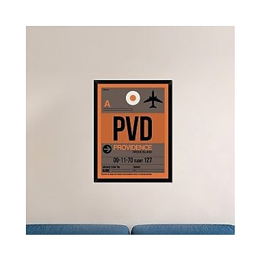 Naxart 'PVD Providence Luggage Tag I' Framed Graphic Art Print on Canvas; 42'' H x 32'' W x 1.5'' D