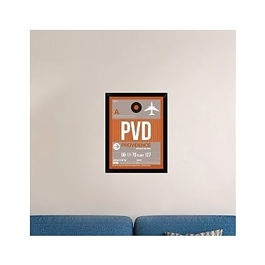 Naxart 'PVD Providence Luggage Tag II' Framed Graphic Art Print on Canvas; 26'' H x 20'' W x 1.5'' D
