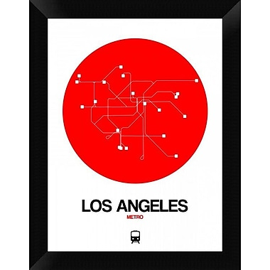 Naxart 'Los Angeles Red Subway Map' Framed Graphic Art Print on Canvas; 18'' H x 14'' W x 1.5'' D