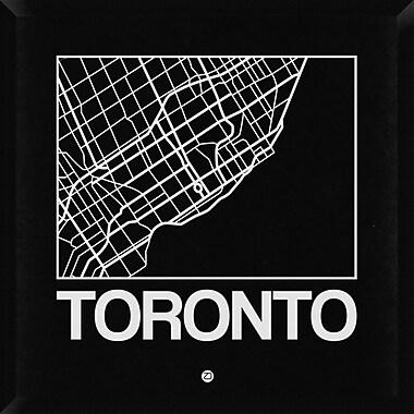Naxart 'Black Map of Toronto' Framed Graphic Art Print on Canvas; 32'' H x 32'' W x 1.5'' D