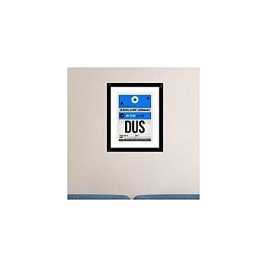 Naxart 'DUS Dusseldorf Luggage Tag I' Framed Graphic Art Print; 22'' H x 18'' W x 1.5'' D