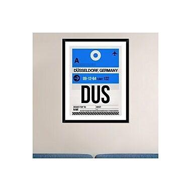 Naxart 'DUS Dusseldorf Luggage Tag I' Framed Graphic Art Print; 38'' H x 30'' W x 1.5'' D
