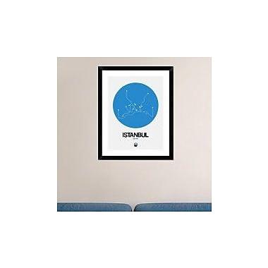 Naxart 'Istanbul Blue Subway Map' Framed Graphic Art Print; 30'' H x 24'' W x 1.5'' D