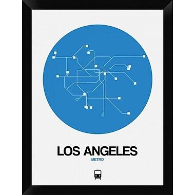 Naxart 'Los Angeles Blue Subway Map' Framed Graphic Art Print on Canvas; 26'' H x 20'' W x 1.5'' D