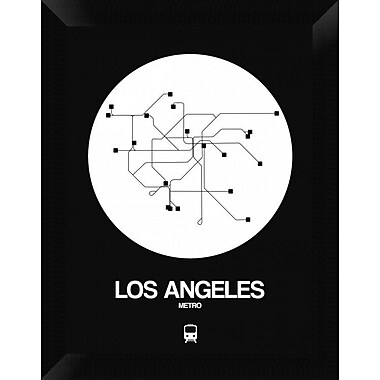 Naxart 'Los Angeles White Subway Map' Framed Graphic Art Print on Canvas; 18'' H x 14'' W x 1.5'' D