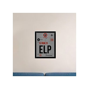 Naxart 'ELP El Paso Luggage Tag I' Framed Graphic Art Print on Canvas; 26'' H x 20'' W x 1.5'' D
