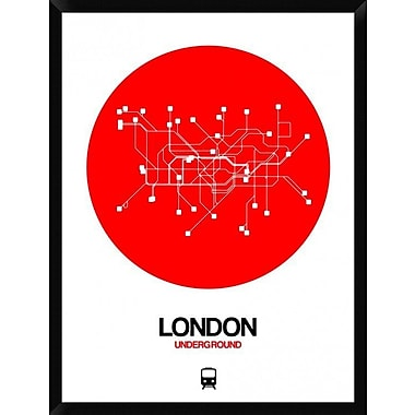 Naxart 'London Red Subway Map' Framed Graphic Art Print on Canvas; 42'' H x 32'' W x 1.5'' D