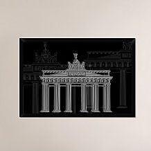 Naxart 'Berlin Night' Framed Graphic Art Print on Canvas; 26'' H x 38'' W x 1.5'' D