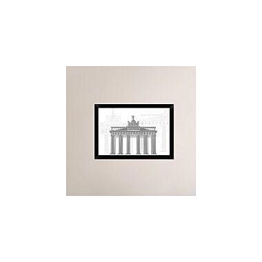Naxart 'Berlin' Framed Graphic Art Print on Canvas; 18'' H x 26'' W x 1.5'' D