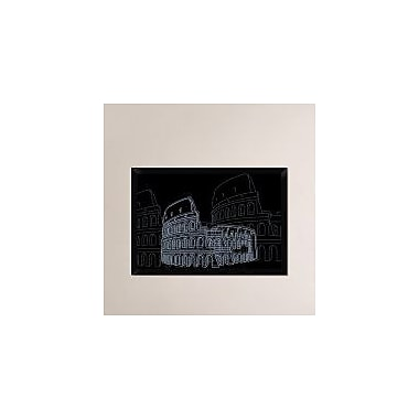 Naxart 'Colosseum Night' Framed Graphic Art Print on Canvas; 22'' H x 32'' W x 1.5'' D