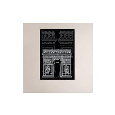 Naxart 'Arc de Triumph Night' Framed Graphic Art Print on Canvas; 38'' H x 26'' W x 1.5'' D