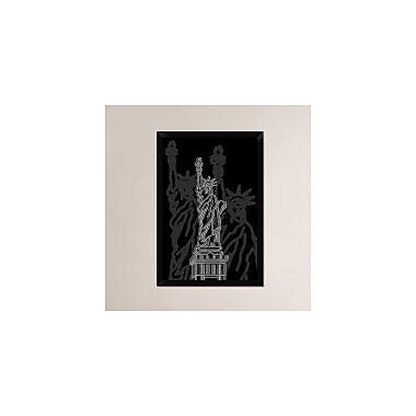 Naxart 'Stature of Liberty Night' Framed Graphic Art Print on Canvas; 32'' H x 22'' W x 1.5'' D