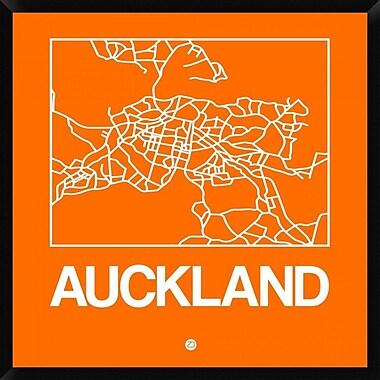 Naxart 'Orange Map of Auckland' Framed Graphic Art Print on Canvas; 38'' H x 38'' W x 1.5'' D
