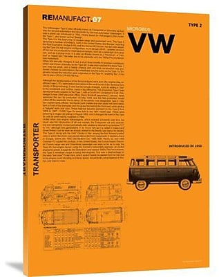 Naxart 'VW' Textual Art on Canvas; 36'' H x 26'' W x 1.5'' D