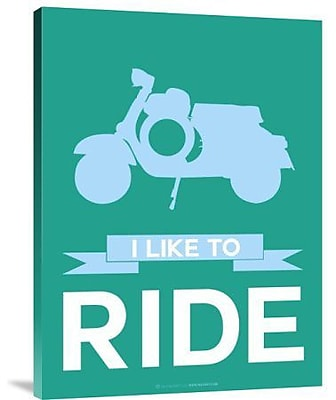 Naxart 'I Like to Ride 2' Graphic Art Print on Canvas; 32'' H x 24'' W x 1.5'' D
