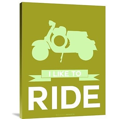 Naxart 'I Like to Ride 3' Graphic Art Print on Canvas; 24'' H x 18'' W x 1.5'' D