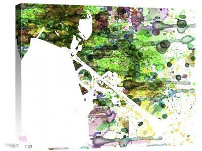 Naxart 'Jazz' Graphic Art Print on Canvas; 28'' H x 35'' W x 1.5'' D