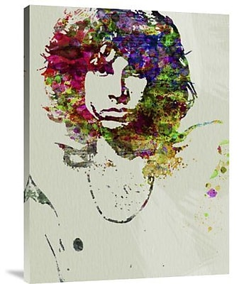Naxart 'Jim Morrison Watercolor' Graphic Art Print on Canvas; 24'' H x 18'' W x 1.5'' D