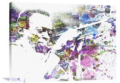 Naxart 'John Coltrane' Graphic Art Print on Canvas; 24'' H x 32'' W x 1.5'' D