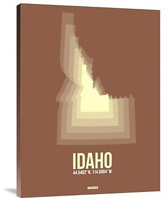 Naxart 'Idaho Radiant Map 2' Graphic Art Print on Canvas; 24'' H x 18'' W x 1.5'' D