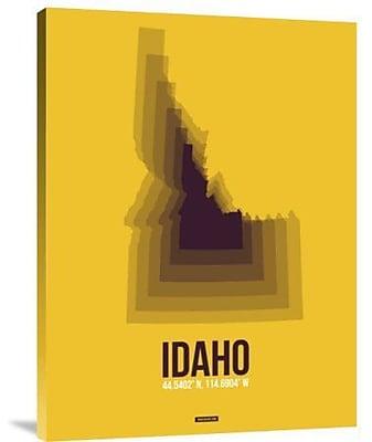 Naxart 'Idaho Radiant Map 3' Graphic Art Print on Canvas; 24'' H x 18'' W x 1.5'' D