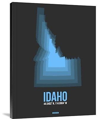 Naxart 'Idaho Radiant Map 4' Graphic Art Print on Canvas; 32'' H x 24'' W x 1.5'' D