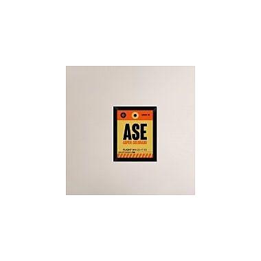 Naxart 'ASE Aspen Luggage Tag I' Framed Graphic Art Print on Canvas; 18'' H x 14'' W x 1.5'' D
