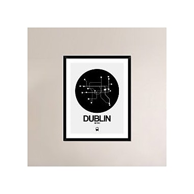 Naxart 'Dublin Black Subway Map' Framed Graphic Art Print; 38'' H x 30'' W x 1.5'' D