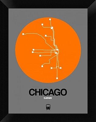 Naxart 'Chicago Orange Subway Map' Framed Graphic Art Print on Canvas; 18'' H x 14'' W x 1.5'' D