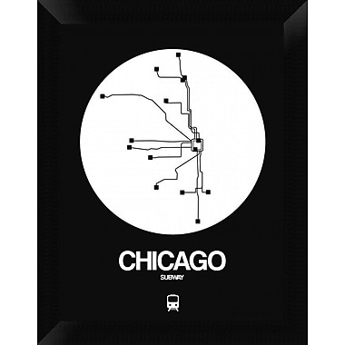 Naxart 'Chicago White Subway Map' Framed Graphic Art Print on Canvas; 18'' H x 14'' W x 1.5'' D
